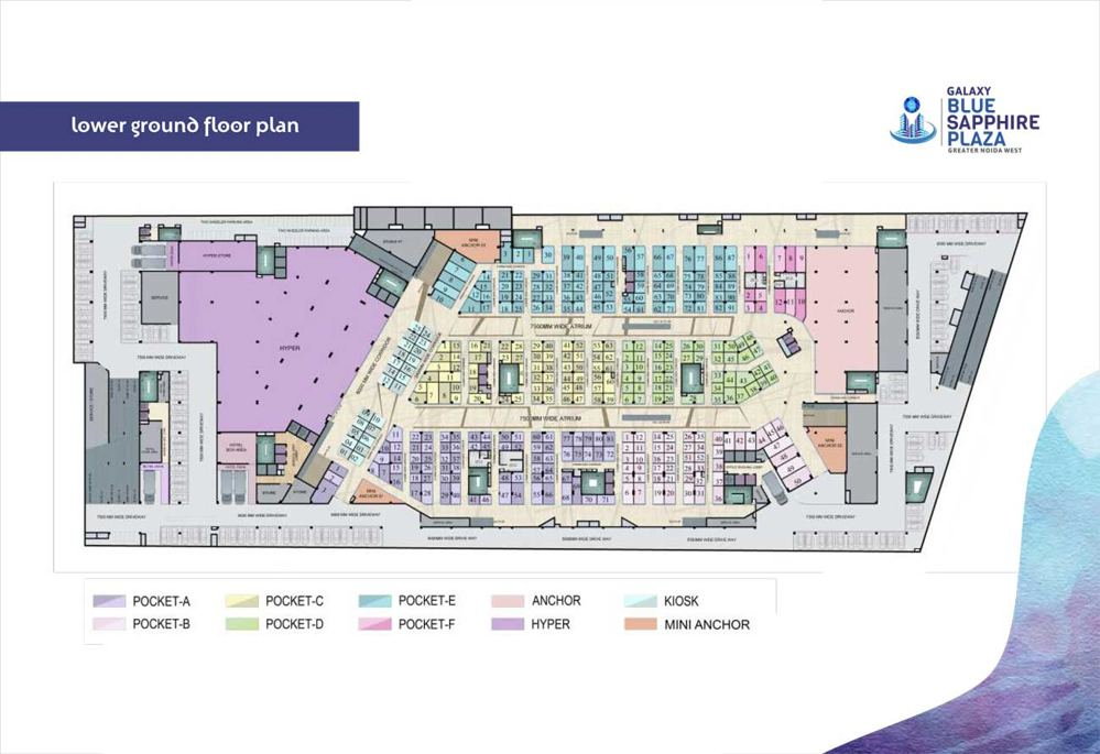 galaxy blue sapphire lower ground floor plan