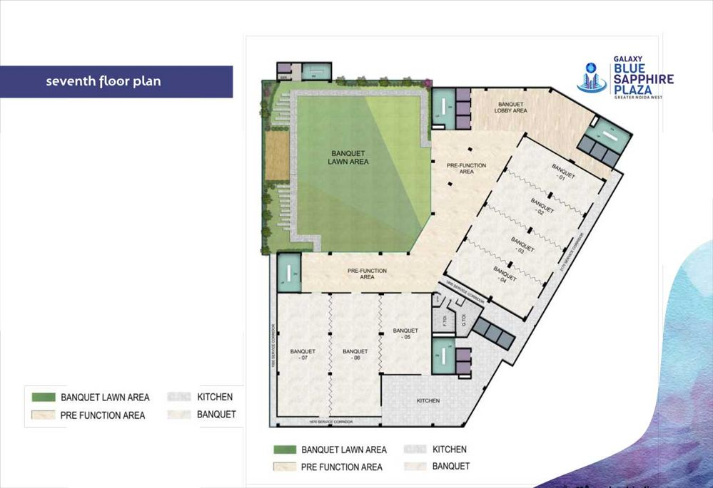 galaxy blue sapphire noida extension seventh floor plan